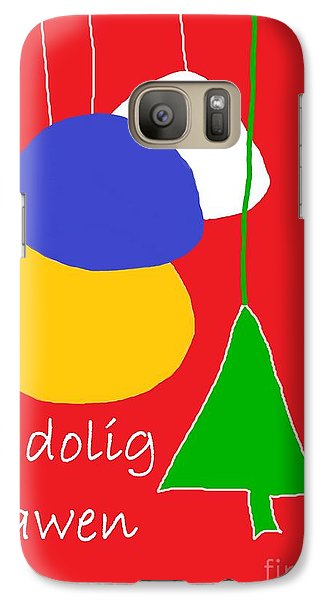 Galaxy Case featuring the digital art Welsh Christmas Card by Barbara Moignard