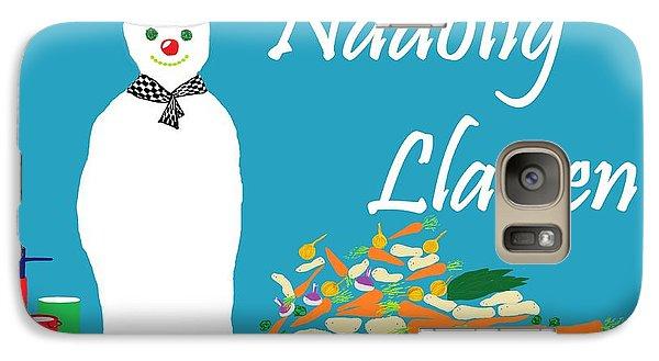 Galaxy Case featuring the digital art Welsh Snowman Chef by Barbara Moignard