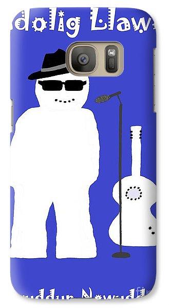 Galaxy Case featuring the digital art Welsh Snowman Musician by Barbara Moignard