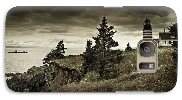 Galaxy Case featuring the photograph West Quoddy Head Lighthouse by Alana Ranney