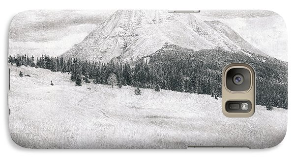 Galaxy Case featuring the drawing West Spanish Peak by Joshua Martin