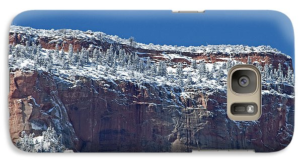 Galaxy Case featuring the photograph West Temple Detail by Bob and Nancy Kendrick