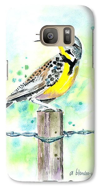 Western Meadowlark Galaxy Case by Arline Wagner