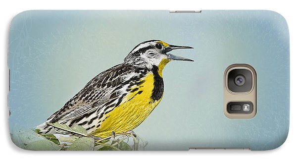 Western Meadowlark Galaxy Case by Betty LaRue