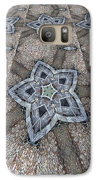 Galaxy Case featuring the digital art Western Star Tile by Michelle Frizzell-Thompson