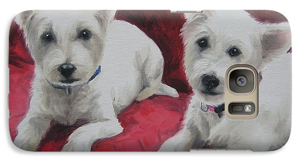 Galaxy Case featuring the painting Westies by Jindra Noewi