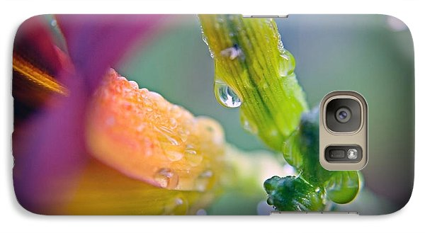 Galaxy Case featuring the photograph Wet Lily by Susan Leggett