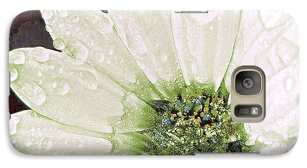 Galaxy Case featuring the digital art Wet Petals by Artist and Photographer Laura Wrede