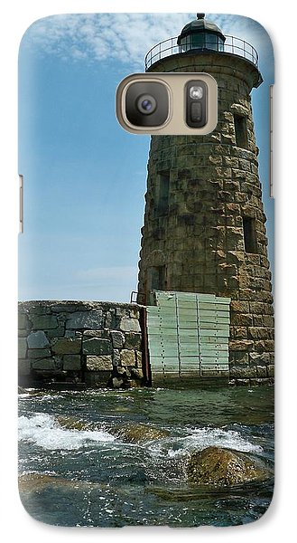 Galaxy Case featuring the photograph Whaleback Light by Rick Frost