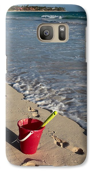 Galaxy Case featuring the photograph When Can We Go To The Beach? by Karen Lee Ensley