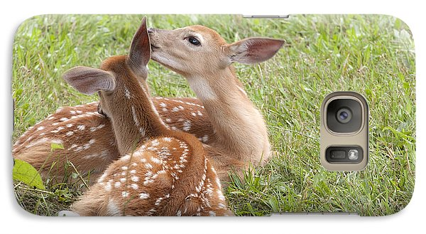 Galaxy Case featuring the photograph Whispering Fawns by Jeannette Hunt
