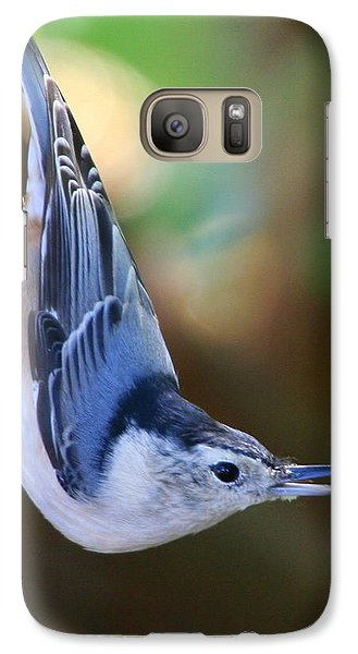Galaxy Case featuring the photograph White-breasted Nuthatch by Laurel Talabere