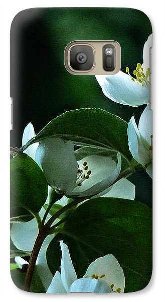 Galaxy Case featuring the photograph White Buds And Blossoms by Steve Taylor