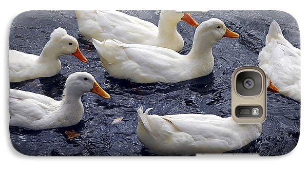 White Ducks Galaxy Case by Elena Elisseeva