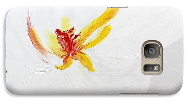 Galaxy Case featuring the painting White Flower by Kume Bryant