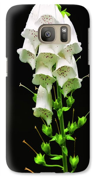 Galaxy Case featuring the photograph White Foxglove by Albert Seger