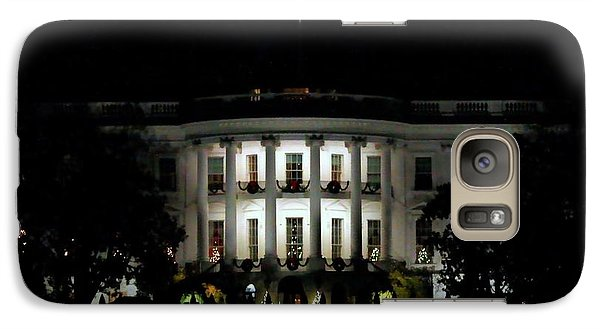 Galaxy Case featuring the photograph White House In December by Suzanne Stout