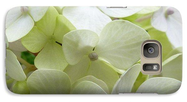 Galaxy Case featuring the photograph White Hydrangea by Barbara Moignard