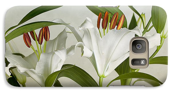 Lily Galaxy S7 Case - White Lilies by Nailia Schwarz