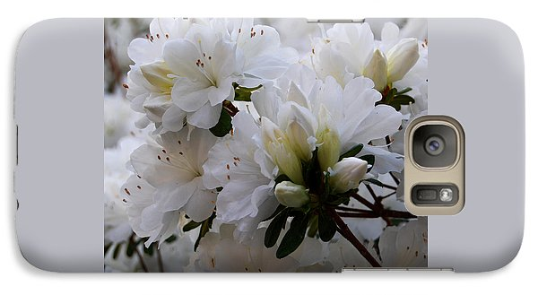 Galaxy Case featuring the photograph White On White by Linda Mesibov