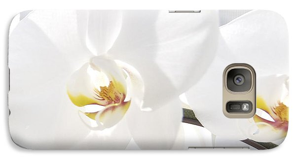 Galaxy Case featuring the photograph White Orchid by Cindy Lee Longhini