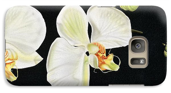 Galaxy Case featuring the painting White Orchids by Dan Menta