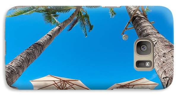 Galaxy Case featuring the photograph White Parasols by Hans Engbers