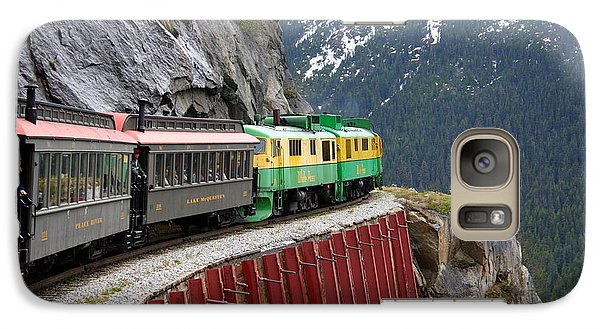 Galaxy Case featuring the photograph White Pass Train Ride by Laurel Talabere