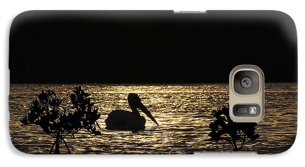 Galaxy Case featuring the photograph White Pelican Evening by Dan Friend