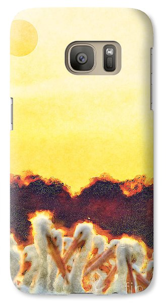 Galaxy Case featuring the photograph White Pelicans In Sun by Dan Friend