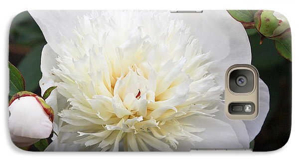 Galaxy Case featuring the photograph White Peony by Ann Murphy