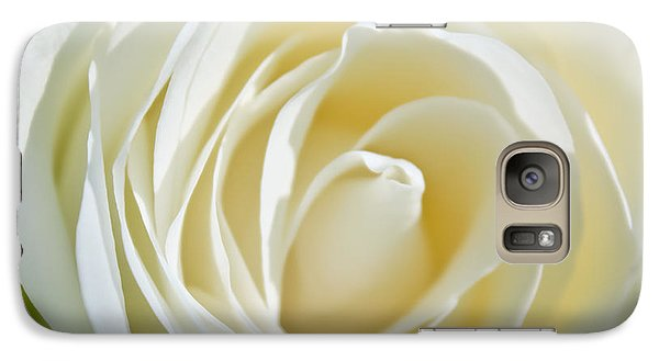 Galaxy Case featuring the photograph White Rose by Ann Murphy