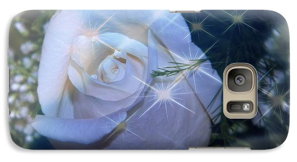 Galaxy Case featuring the photograph White Rose by Michelle Frizzell-Thompson