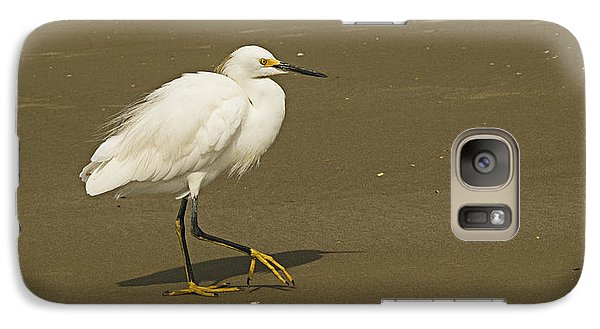 Galaxy Case featuring the photograph White Seabird Walking by Barbara Middleton