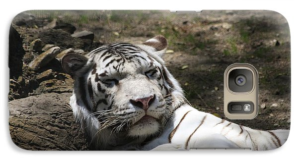 Galaxy Case featuring the photograph White Tiger by Jerry Bunger