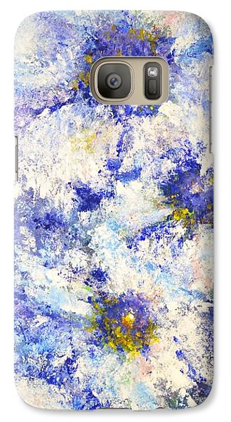 Galaxy Case featuring the painting White Wild Roses by Kathleen Pio
