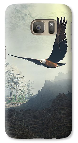 Galaxy Case featuring the painting Whitelighter by Sipo Liimatainen