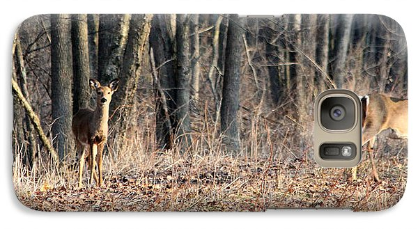 Galaxy Case featuring the photograph Whitetail Alert by Mark J Seefeldt