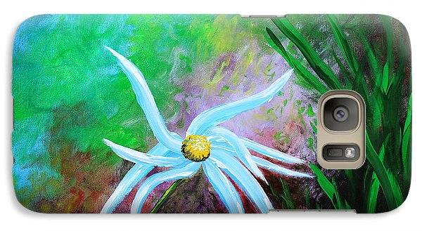 Galaxy Case featuring the painting Wild Daisy 2 by Kume Bryant