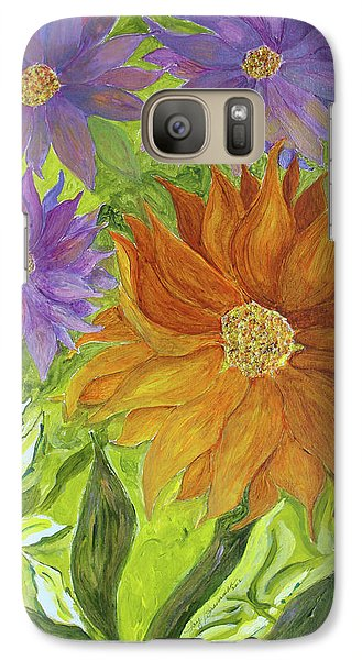 Galaxy Case featuring the painting Wild Flowers by Joy Braverman