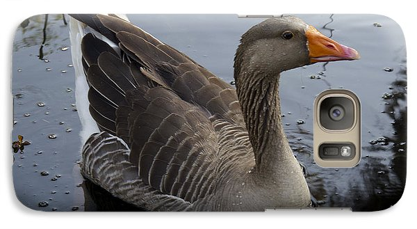 Galaxy Case featuring the photograph Wild Greylag Goose by Lynn Palmer
