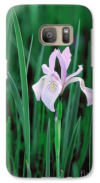 Galaxy Case featuring the photograph Wild Iris by Doug Herr