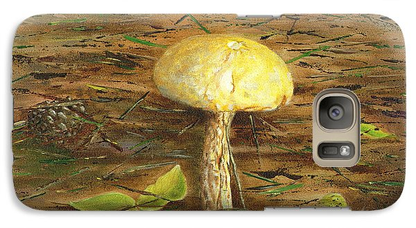 Galaxy Case featuring the painting Wild Mushroom On The Forest Floor by Judy Filarecki