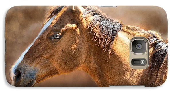 Galaxy Case featuring the digital art Wild Mustang by Mary Almond