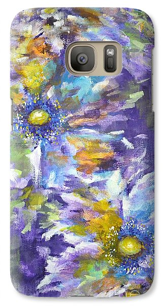 Galaxy Case featuring the painting Wild Purple Roses by Kathleen Pio