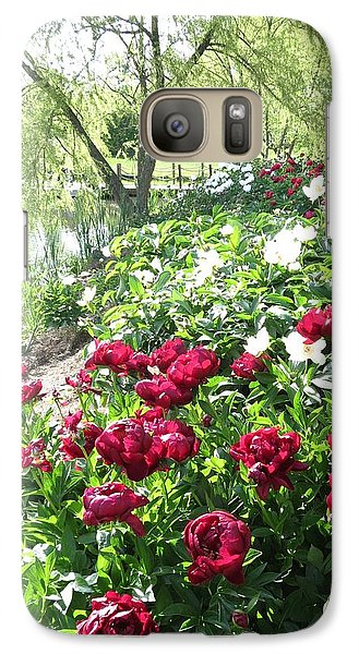 Galaxy Case featuring the photograph Willow Lake Peonies  by Rebecca Overton