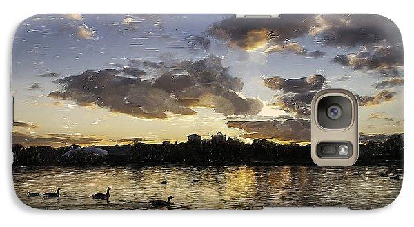 Galaxy Case featuring the digital art Wimbledon Sunset by Matt Malloy