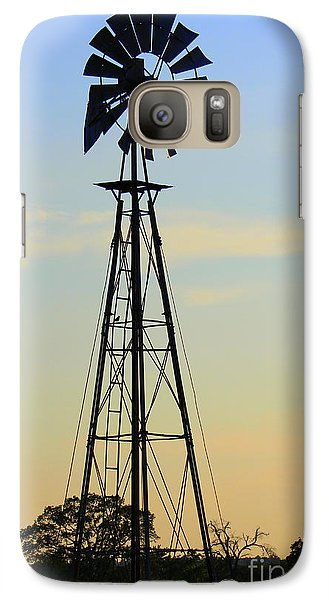 Galaxy Case featuring the photograph Windmill At Dusk by Kathy  White