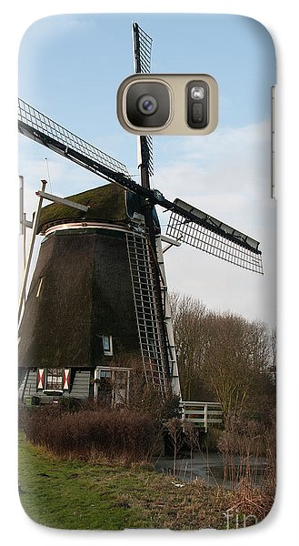 Galaxy Case featuring the digital art Windmill In Amsterdam by Carol Ailles