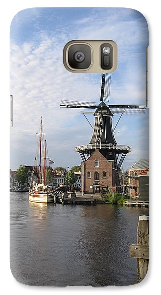 Galaxy Case featuring the photograph Windmill In The Nederlands by Karen Molenaar Terrell